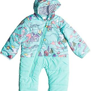 Roxy Girls Baby Rose Little Miss Snow Jumpsuit, Aruba Blue Alpine