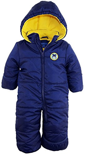 iXtreme Baby Boys Infant Cute Teddy Bear One Piece Puffer Winter Snowsuit