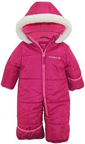 Pink Platinum Baby Girls One Piece Warm Winter Puffer Snowsuit Pram Bunting