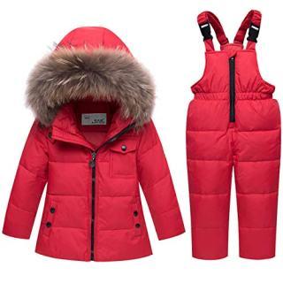 JELEUON Baby Girls and Boys Winter Warm Hooded Fur Trim Zipper