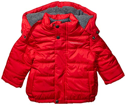 Calvin Klein Baby Boys Eclipse Bubble Jacket, Bright Red