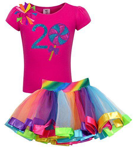 Bubblegum Divas Baby Girls' 2nd Birthday Giant Swirly Lollipop Rainbow