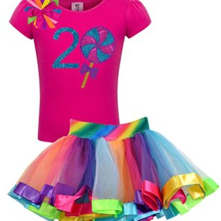 Bubblegum Divas Baby Girls' 2nd Birthday Giant Swirly Lollipop Rainbow
