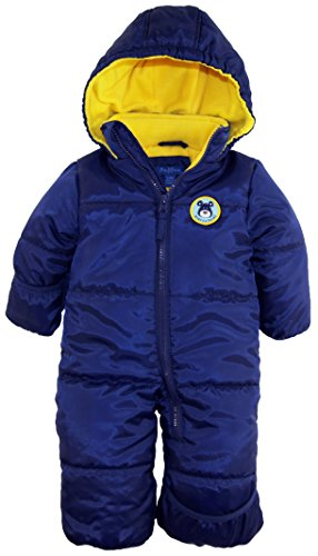 iXtreme Baby Boys Newborn Cute Teddy Bear One Piece Puffer Winter Snowsuit