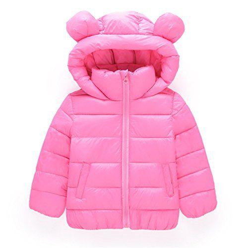 Girls Winter Jackets Boys Cartoon Style Girl Outerwear Baby Girls Hooded