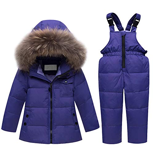 M&A Baby Girls Boys Winter Down Coat Fur Hooded Puffer Jacket