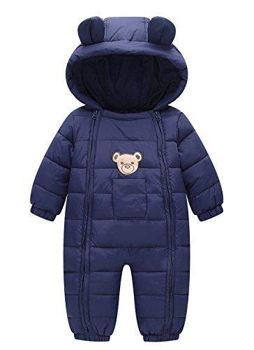 Happy Cherry 100% Down Cotton Baby Romper Baby Winter Coat