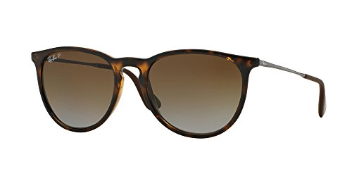 Ray Ban ERIKA 54M Havana/Brown Gradient Polarized Sunglasses For Women