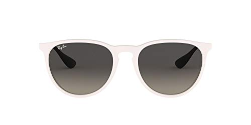 Ray-Ban Erika Round Sunglasses, Shiny White Red/Grey Gradient