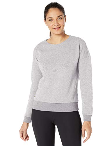 Lacoste Womens Sport Long Sleeve Double Face Big Croc Sweatshirt Sweatshirt