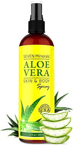 Organic Aloe Vera Spray for Body & Hair - From Freshly Cut Aloe Plant