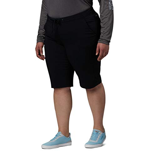 Columbia Women's Anytime Outdoor Plus Size Long Short, Black