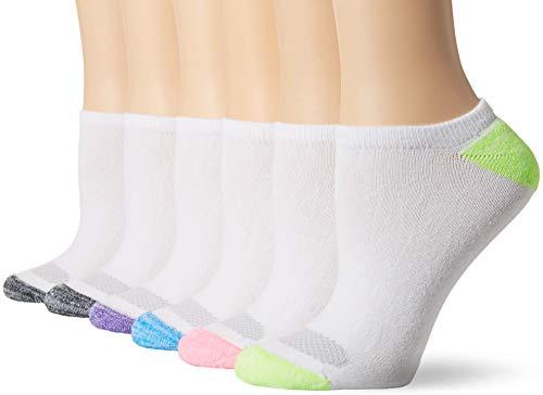 Hanes Women's No Show Socks, white color Heel/toe