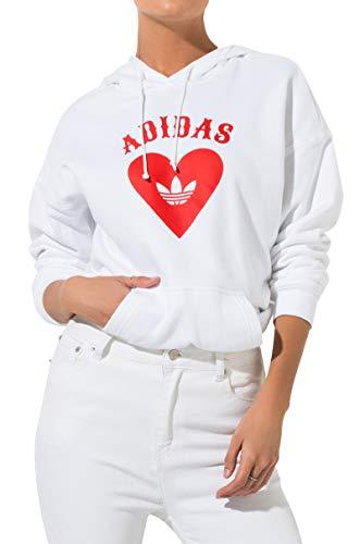 adidas Women's Heart Hoodie -White