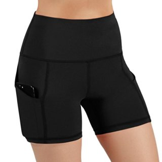 ODODOS High Waist Out Pocket Yoga Short Tummy Control Workout Running