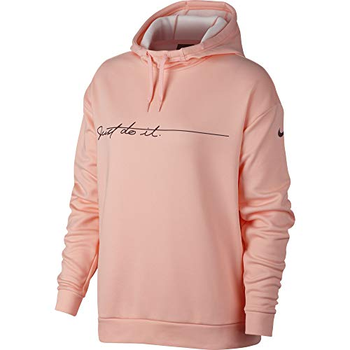 Nike Women's Therma Graphic Fleece Training Hoodie Storm Pink/Burgundy Crush