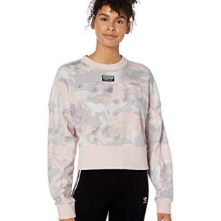 adidas Originals Women's Cropped Sweater Sweatshirt, chalk White