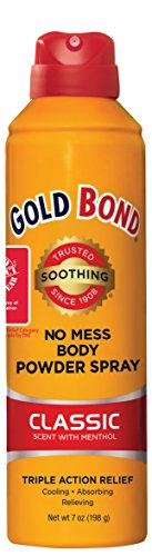 Gold Bond No Mess Spray Powder, Classic Scent with Menthol