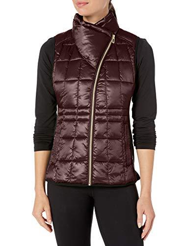 Calvin Klein Women's Avenue Quilted Vest, Metallic Espresso, Extra Large