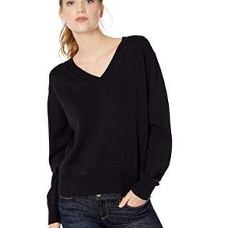 Amazon Brand - Daily Ritual Women's 100% Cotton V-Neck Pullover Sweater