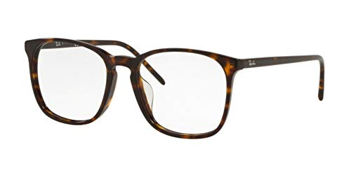 Ray-Ban Asian Fit Square Eyeglass Frames Non Polarized Prescription Eyewear