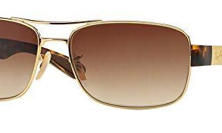 Ray-Ban 61M Arista/Brown Gradient Sunglasses For Men