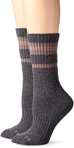 Carhartt Women's Thermal Heavy Duty Crew 2-Pair Socks, gray