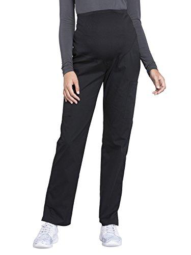 Cherokee WW Professionals Maternity Straight Leg Pant Black M