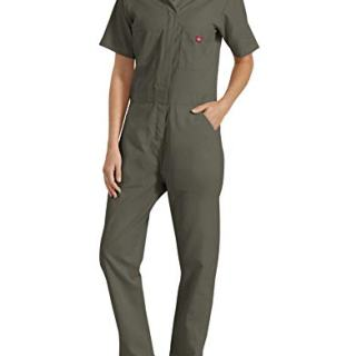 Dickies Women's Short Sleeve Flex Coverall, Moss, Medium