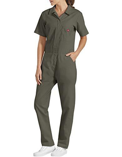 Dickies Women's Short Sleeve Flex Coverall, Moss, Medium