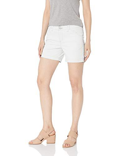 LEE Women's Regular Fit Chino Short, White