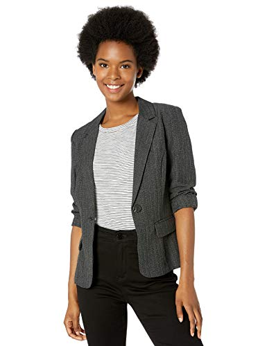 A. Byer Junior's One Button Blazer, Grey, L