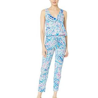 Lilly Pulitzer Women's Paulina Jumpsuit, Breakwater Tint Party Wave