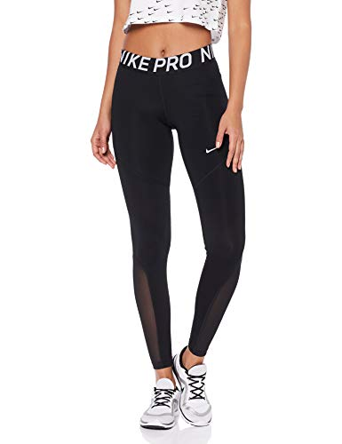 Nike Women's Pro Tights Black/White Size Large