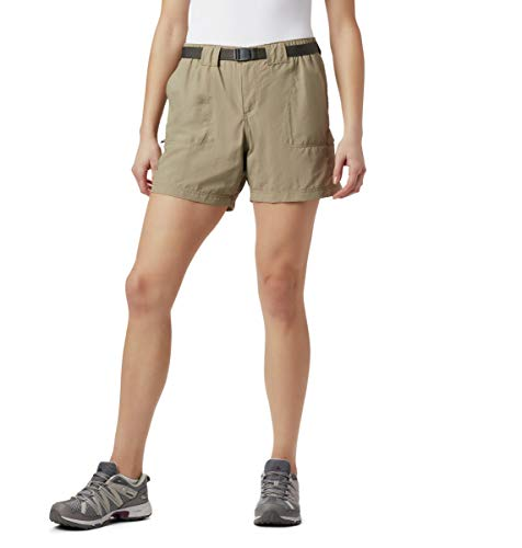 Columbia Women's Sandy River Cargo Short, Tusk, Medium