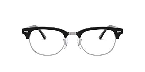 Ray-Ban Clubmaster Square Eyeglass Frames, Shiny Black/Demo Lens