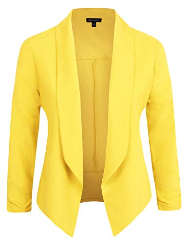 Michel Womens Blazer Work Office Lightweight Stretchy Open Front Lapel Jacket