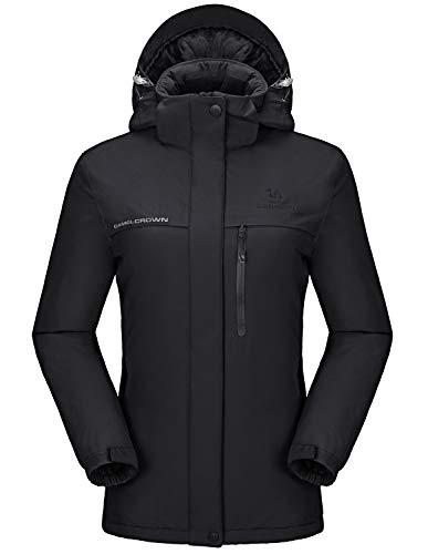 CAMEL CROWN Womens Ski Jacket Waterproof Snowboard Winter Snow Warm