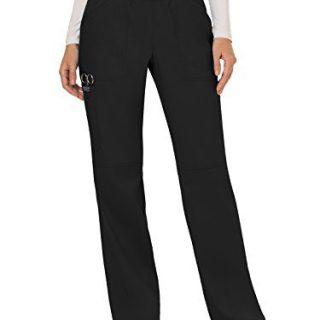 Cherokee Women's Mid Rise Straight Leg Pull-on Pant, Medium Petite
