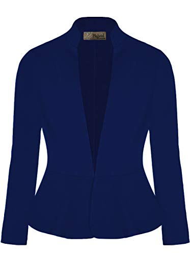 Hybrid & Company Women Super Comfy Ponte Office Blazer