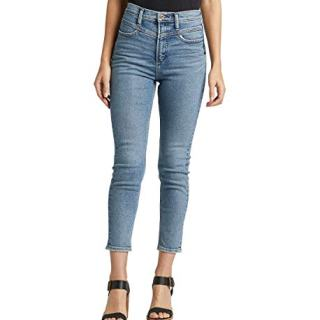 Silver Jeans Co. Women's Ode to 80'S High Rise Skinny, Light Indigo Stretch