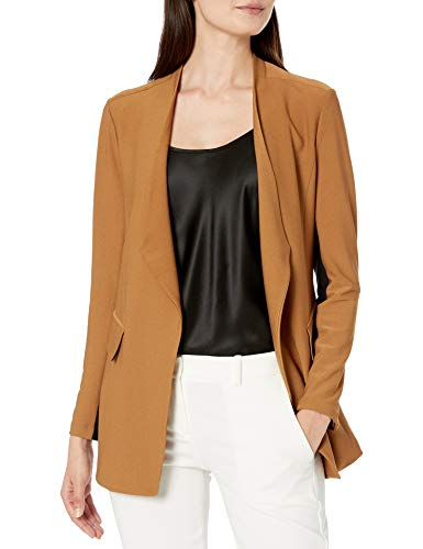 Lyssé Women's Lianna Crepe Jacket, Camel, L