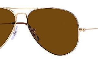 Ray Ban 55M Gold/ Brown Aviator + FREE Complimentary Eyewear Care Kit