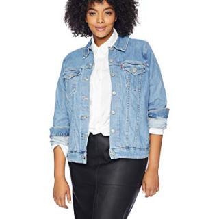 Levi's Women's Plus Size Original Trucker Jacket, Jeanie