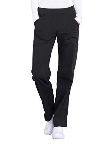 CHEROKEE Workwear Professionals Women's Mid Rise, Straight Leg Pull-On Pant