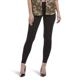 HUE Women's Wide Waistband Blackout Cotton Leggings, Assorted