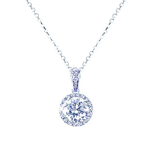 landau Jewelry Women's Necklace - Deluxe Pave Stud - Premium Quality Finish