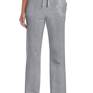 Gildan Women's Open Bottom Sweatpants, Sport Grey, Large