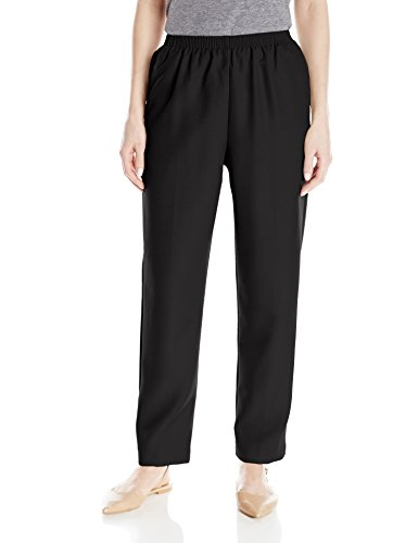 Alfred Dunner Women's Poly Proportioned Medium Pant, Black