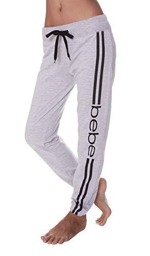 bebe Womens Elastic Waist Ankle Drawstring Lounge Pajama Sleep Pants